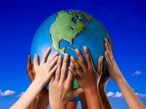 """Las manos del futuro """"Día Internacional de la Tierra"""""""