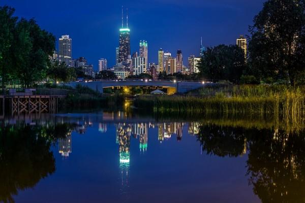 La ciudad vista desde, Lincoln Park (Chicago)