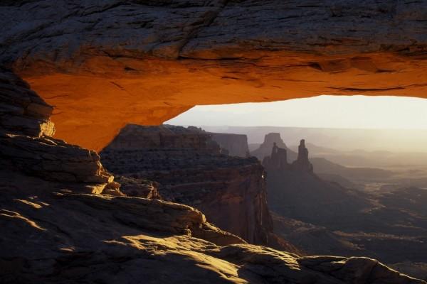 Amanecer en el Parque nacional Tierra de Cañones (Utah)