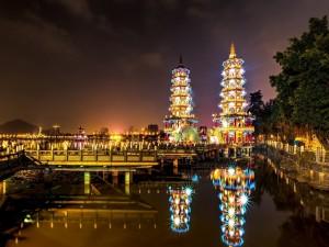La noche en Taiwán