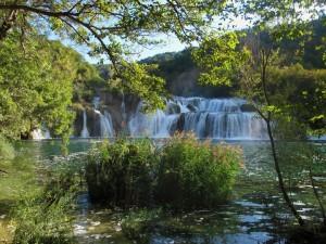 Gran cascada en Croacia