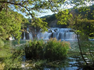 Postal: Gran cascada en Croacia