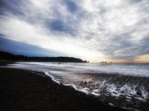 El bello paisaje, visto desde la playa