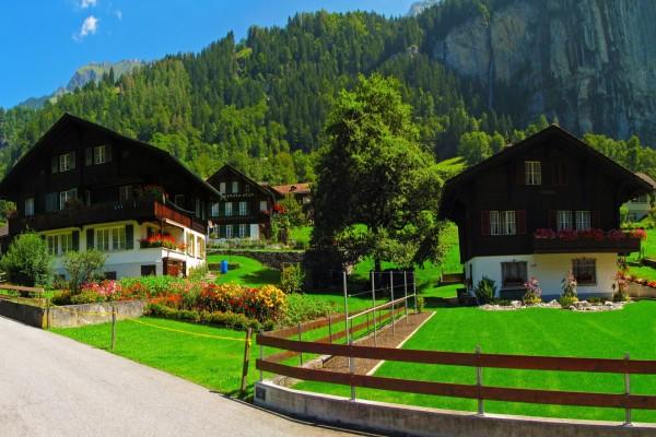 Hermosas casas en Suiza