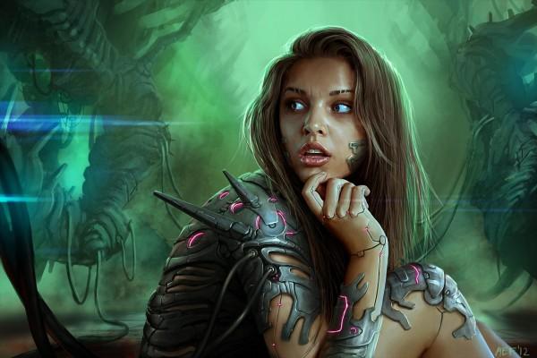 Chica robótica