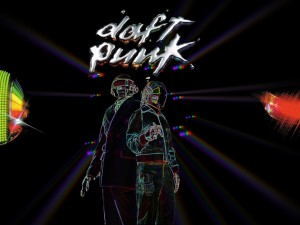 Daft Punk y luces de colores