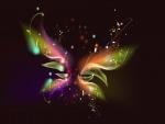 Silueta de una mariposa