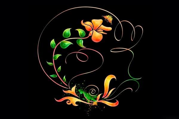 La flor y la mariposa