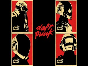 Postal: Cuatro imágenes de Daft Punk