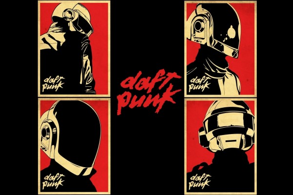 Cuatro imágenes de Daft Punk