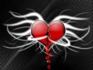 Postal: Corazón roto, vaciándose de amor