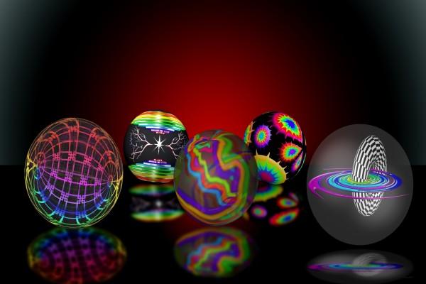 Esferas con distintos dibujos