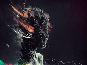 Postal: Figura de mujer abstracta