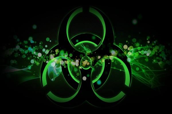 Círculos de arte digital en color verde