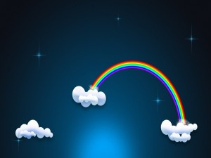 Postal: Arcoiris en las nubes