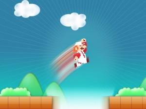 Postal: Salto de Super Mario