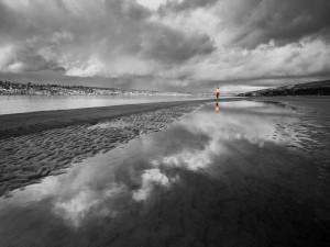Aporte de color en un paisaje blanco y negro