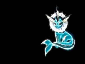 Postal: Pokémon Vaporeon (Agua)
