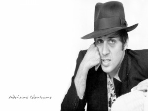 El actor, músico y cantante: Adriano Celentano