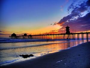 Postal: Un magnífico atardecer en la playa