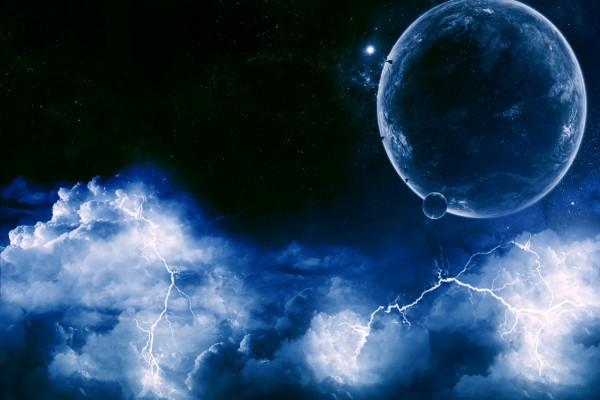 Rayos en el espacio