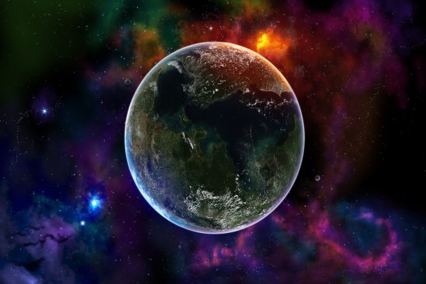 Planeta Tierra en el Universo