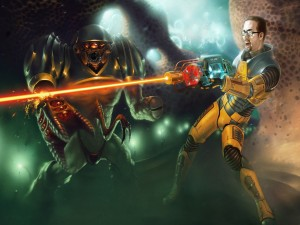 "Gordon Freeman personaje de ""Black Mesa"""