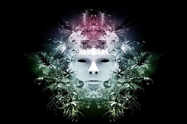 Cara de la naturaleza abstracta
