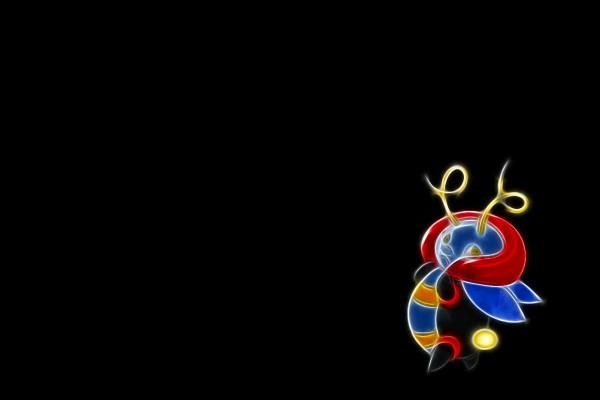 Un pokémon en fondo negro