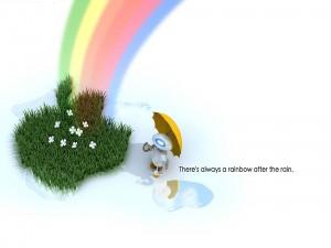 Postal: Siempre hay un arco iris después de la lluvia