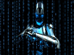 Postal: Robot binario
