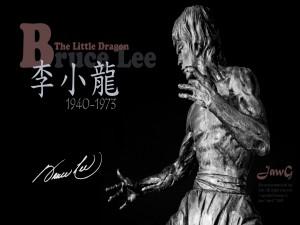 """Postal: Bruce Lee """"El Pequeño Dragón"""" 1940-1973"""