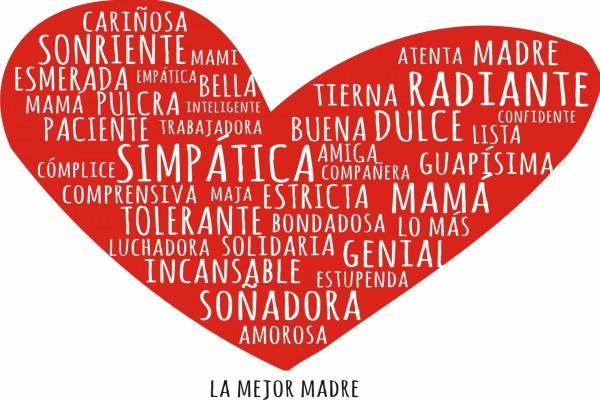 """Corazón para """"La Mejor Madre"""" (Día de la Madre)"""