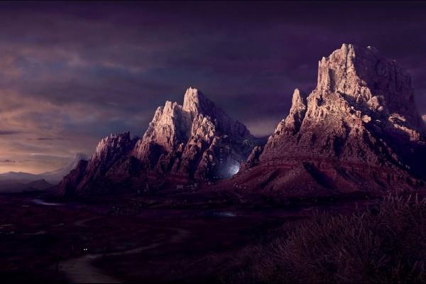Luz en las montañas