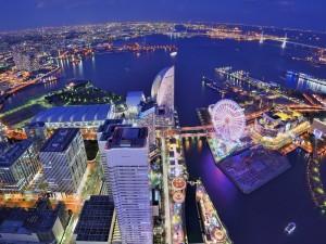 La ciudad de Yokohama, Japón