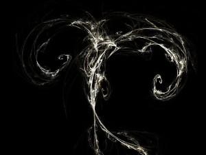Formas abstractas en blanco y negro