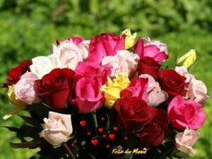 Postal: Ramo de flores para: El Día de la Madre