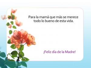"""Postal: Dedicatoria para """"El Día de la Madre"""""""