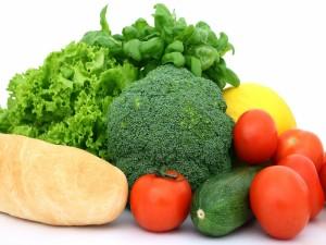 Postal: Pan y verduras