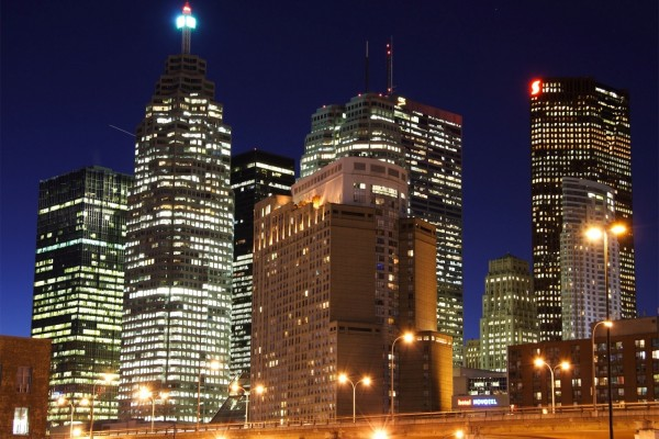 Los edificios de una ciudad