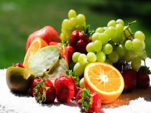 Postal: Frutas frescas saludables
