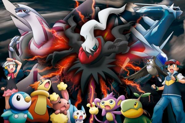 Pokémon Darkrai, otros Pókemon y Ash