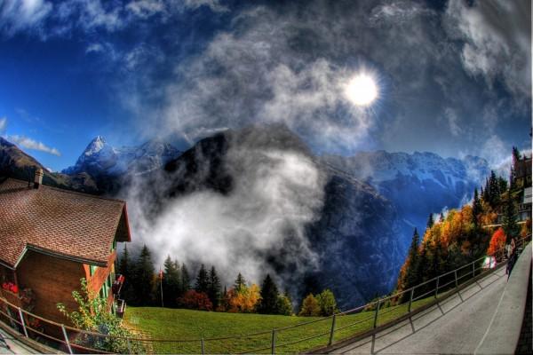 Una foto a las montañas