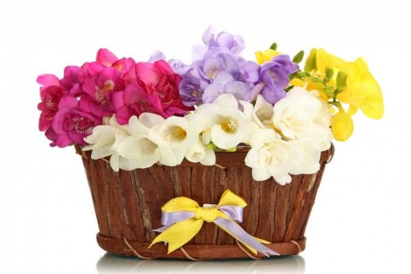 Cesta con flores