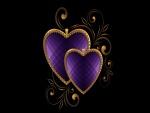 Corazones color púrpura