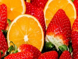 Fresas y naranjas