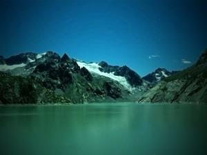 Postal: Cae la noche en el lago