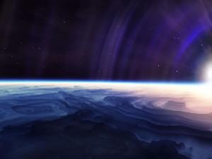 Postal: Ondas de luz en el espacio