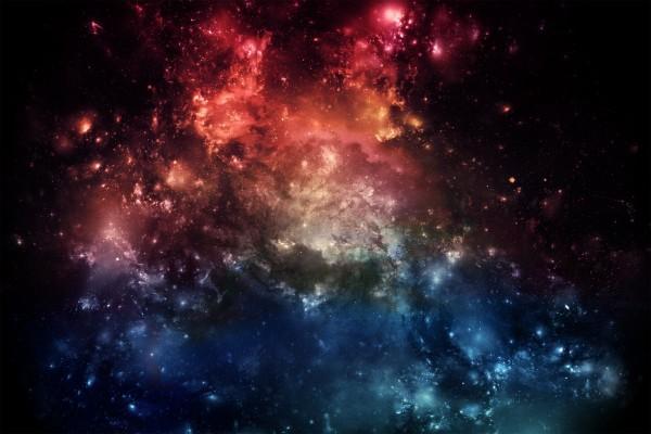 Nebulosa con dos colores