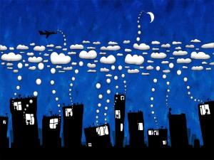 Postal: Pensamientos almacenados en las nubes